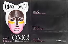 Perfumería y cosmética Kit de cuidado facial en 4 pasos - Double Dare OMG! 4in1 Kit Zone System Mask