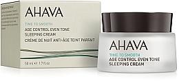 Perfumería y cosmética Crema de noche antiedad con aceite de jojoba - Ahava Age Control Even Tone Sleeping Cream