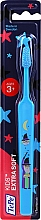 Perfumería y cosmética Cepillo dental infantil de dureza extra suave, azul con magos - TePe Kids Extra Soft 3+
