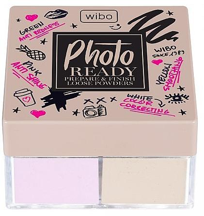 Polvos sueltos para rostro, 2en1 - Wibo Photo Ready Loose Powder