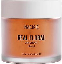 Perfumería y cosmética Crema facial con agua de rosas y cafeína - Nacific Real Floral Rose Air Cream