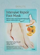 Perfumería y cosmética Mascarilla intensamente regeneradora para pies con albaricoque - Skinlite Intensive Repair Foot Mask