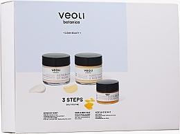 Perfumería y cosmética Set cuidado facial - Veoli Botanica 3 Steps Daily Routine (crema día/60ml + crema noche/60ml + crema ojos/15ml)