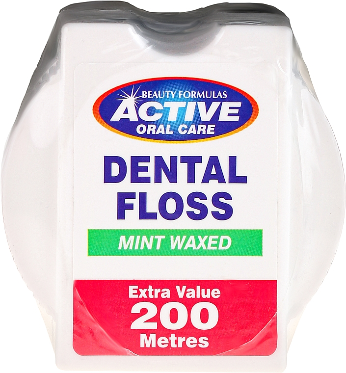 Hilo dental con cera alba , aroma a menta - Beauty Formulas Active Oral Care Dental Floss Mint Waxed 200m