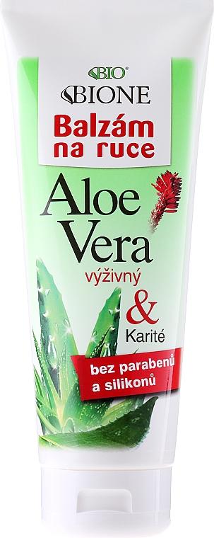 Bálsamo para manos nutritivo con aloe vera - Bione Cosmetics Aloe Vera Nourishing Hand Ointment With Collagen