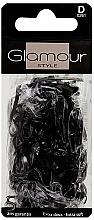 Perfumería y cosmética Gomas de pelo de silicona, 0261, negras - Glamour