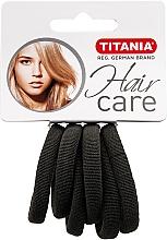 Perfumería y cosmética Gomas de pelo, color gris, 6uds. - Titania