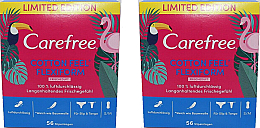 Perfumería y cosmética Salvaslips de algodón, protección duradera 2x56 uds. - Carefree Cotton Feel Flexiform