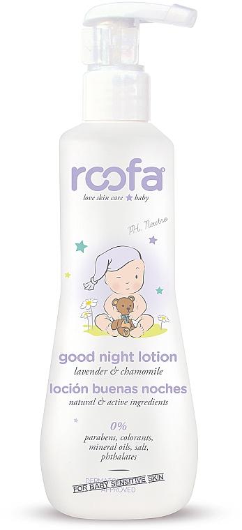 Loción corporal con extracto de lavanda y camomila - Roofa Good Night Lotion