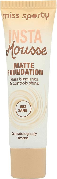 Base de maquillaje mousse de cobertura completa con efecto mate - Miss Sporty Insta Mousse Matte Foundation