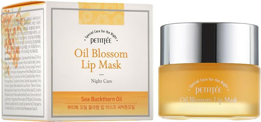 Mascarilla de labios de noche con vitamina E y aceite de espino amarillo - Petitfee&Koelf Oil Blossom Lip Mask