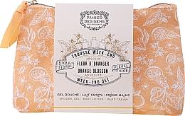 Perfumería y cosmética Panier des Sens Orange Blossom Week-End Set - Set corporal con aroma a flor de naranjo (gel de ducha/70ml + loción corporal/70ml + crema de manos/30ml + neceser)