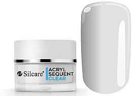 Perfumería y cosmética Acrílico para uñas transparente, 72 g - Silcare Sequent LUX