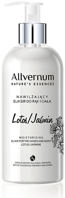 Elixir de manos y cuerpo con aroma a loto & jazmín - Allverne Nature's Essences Elixir for Hands and Body
