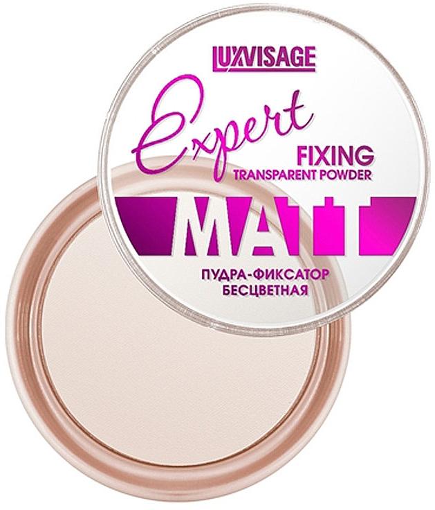 Polvo fijador de maquillaje transparente, efecto mate - Luxvisage