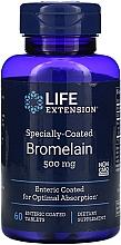 Perfumería y cosmética Complemento alimenticio en cápsulas de bromelina con recubrimiento especial, 500 mg, 60 cáp. - Life Extension Bromelain
