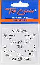 Perfumería y cosmética Stickers para uñas 42317 - Top Choice Word Golds Silver