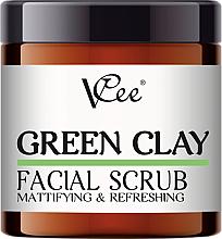 Perfumería y cosmética Exfoliante facial matificante con arcilla verde - VCee Green Clay Facial Scrub Mattifying&Refreshing