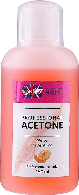 Quitaesmalte de uñas con aroma a melón - Ronney Professional Acetone Melon