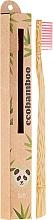 Perfumería y cosmética Cepillo dental de bambú, rosa - Ecobamboo Soft Toothbrush