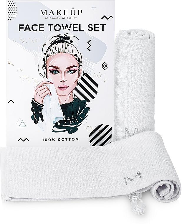 "Set de viaje toallas faciales, blancas ""MakeTravel"" - Makeup Face Towel Set"