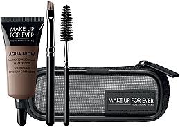 Perfumería y cosmética Set de maquillaje - Make Up For Ever Aqua Brow Eyebrow Corrector Kit (corrector/7ml+cepillos/2uds.+ neceser cosmético) (15 -Light Brown)