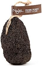 Perfumería y cosmética Piedra pómez volcánica exfoliante con cordón, marrón - Najel Volcanic Pumice Foot Stone