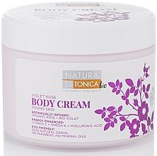 Perfumería y cosmética Crema corporal con rosa orgánica, violeta bio y ácido hialurónico - Natura Estonica Violet Rose Body Cream