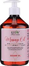 Perfumería y cosmética Aceite de masaje con sésamo y extracto de naranjo amargo - Eco U Massage Oil Sesame Oil