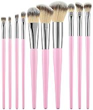 Perfumería y cosmética Set profesional de brochas y pinceles de maquillaje, rosa, 10uds. - Tools For Beauty