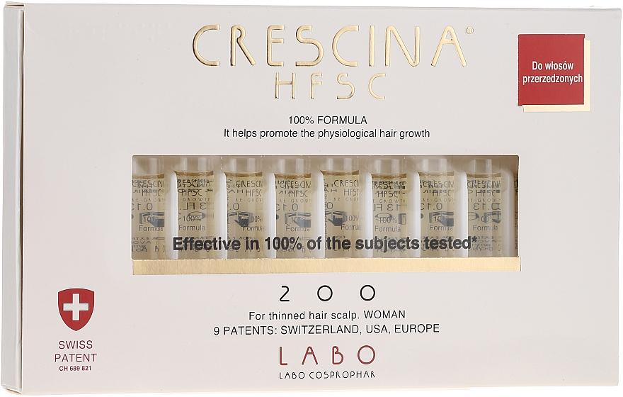 Tratamiento en ampollas para recuperación de cabello con cistina y lisina 200 - Labo Crescina HFSC Re-Growth 200