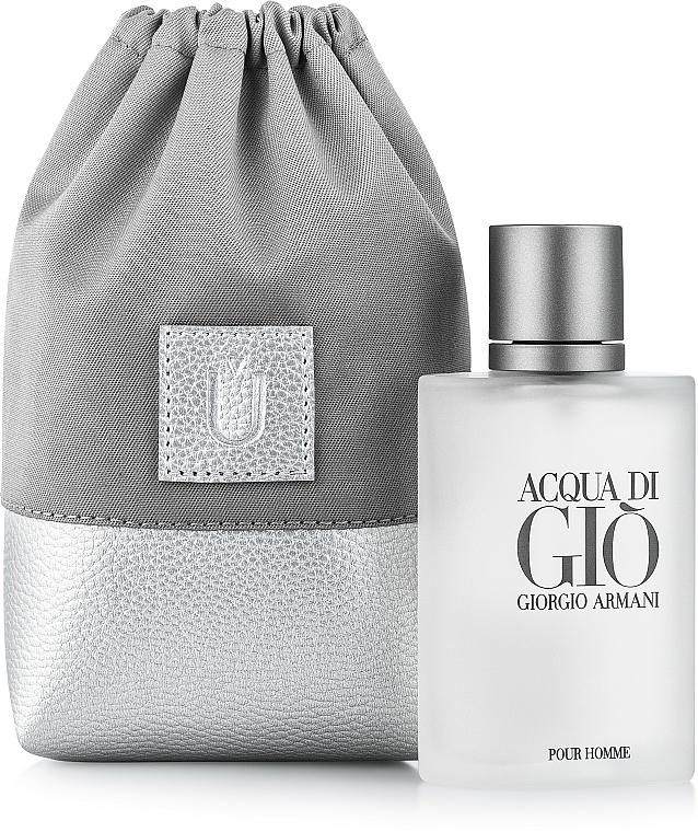 Bolso cosmético, gris (15x10x6cm) - MakeUp Perfume Dress (vacío)