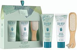 Perfumería y cosmética Set para pies (exfoliante/75ml+ bálsamo/75ml+ piedra pómez) - Scottish Fine Soaps Sea Kelp Foot Care Pamper Kit