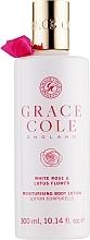 Perfumería y cosmética Loción corporal con rosa blanca & flor de loto - Grace Cole White Rose & Lotus Flower Body Lotion